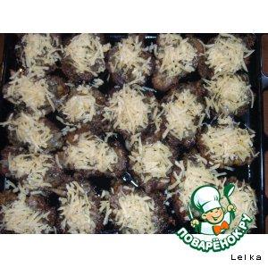 Рецепт Запечeнные отбивные с грибами и сыром