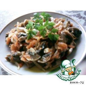 Маринованые грибочки с морковкой вкусный пошаговый рецепт с фотографиями