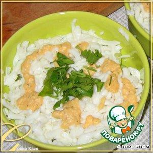 Рецепт Простенький салат с яичным соусом
