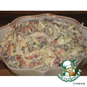 Рецепт Салатик с кальмарами