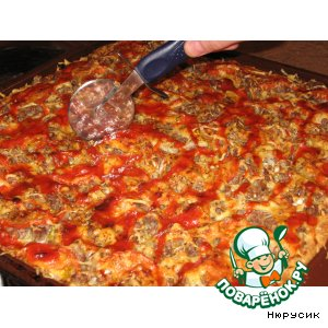 пицца с капустой рецепт с фото