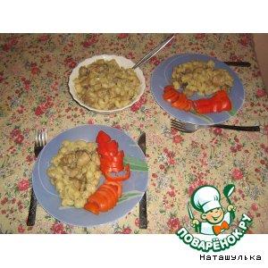 Рецепт Курочка в сливках с грибами