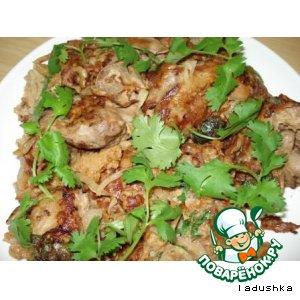 Рецепт Куриная печень, запеченная в кляре