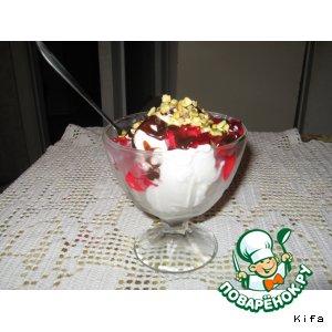 Рецепт Мороженое с  желе и фисташками