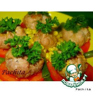 Рецепт Мясные мешочки с овощами