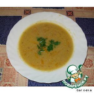 Рецепт Тыквенный суп с чечевицей