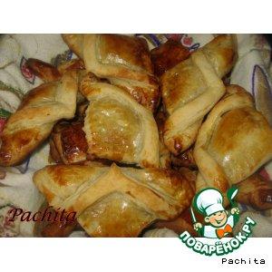 Рецепт Слойки с куриной печенью