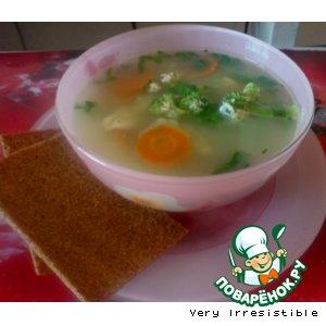 Рецепт Суп с сыром и брокколи