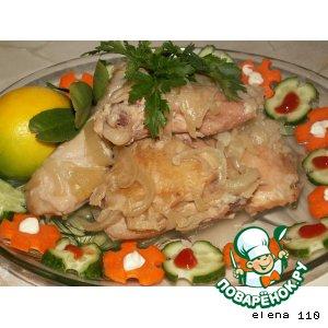 Рецепт Курица в луковом соусе