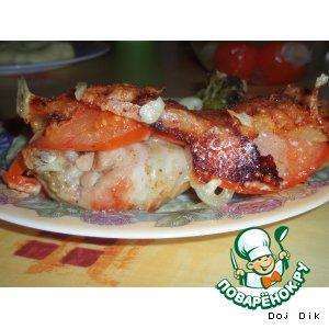 Рецепт Курочка с яблоками и сыром