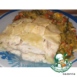 Рецепт Запеченная рыбка в яблочно-винном соусе