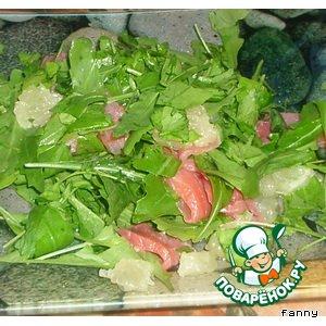 Рецепт Салат из рукколы с красной рыбой