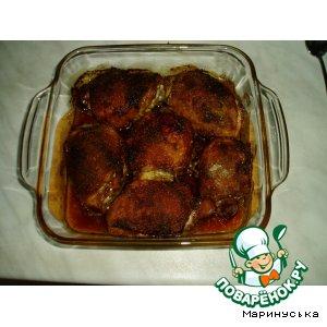 Рецепт Куриные бедрышки в соевом соусе