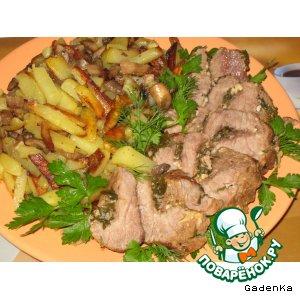 Рецепт Говядина «Копченая» в клюквенном соусе