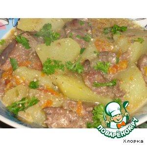 Рецепт Жаркое с куриной печенью