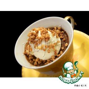 Рецепт Шоколадный мусс-крем с ликeром и маскарпоне, запечeнный в чашечках