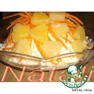 Рецепт Салат куриный с ананасом