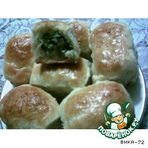 Рецепт Пирожки на кефире с луком и яйцом