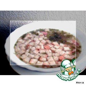 Рецепт Суп с горохом, беконом и сухариками