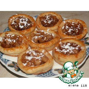 Рецепт Корзиночки с яблоками в карамели