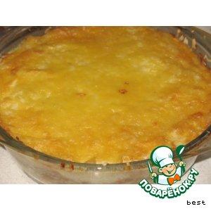 Рецепт Быстрая рисовая запеканка с овощной начинкой