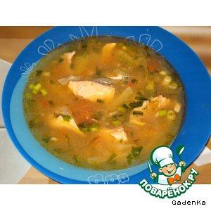 Рецепт Суп из лосося с капустой и белым вином