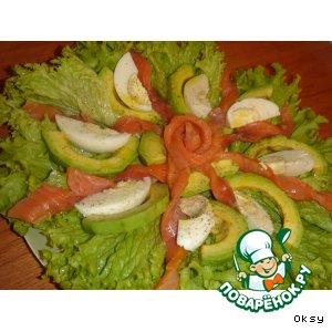 """Рецепт Салат из авокадо """"Цветок страсти"""""""