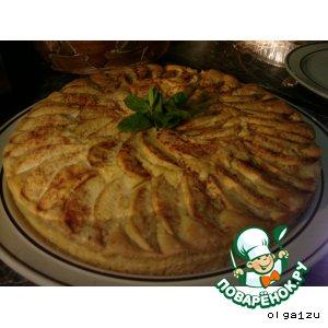 Рецепт Яблочный пирог с кремом