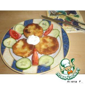 Рецепт Цуккини а-ля cordon bleu, или панированный шницель из цуккини с начинкой из сыра и ветчины