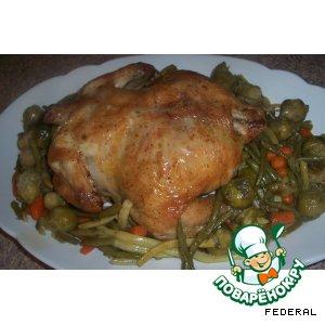 Курица с овощами вкусный рецепт приготовления с фотографиями пошагово