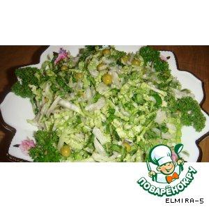 Рецепт Салат из китайской капусты с редькой