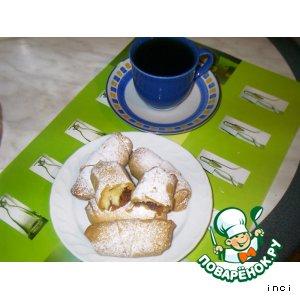 """Рецепт Яблочно-ореховые рулетики """"Кто на чай?"""""""