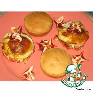 Рецепт Завтрак «2 в 1 » или как сделать быстрые булочки к завтраку