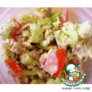 Рецепт Рыбный салат с овощами