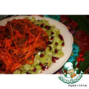 Рецепт А-ля корейский салат из моркови с баклажаном