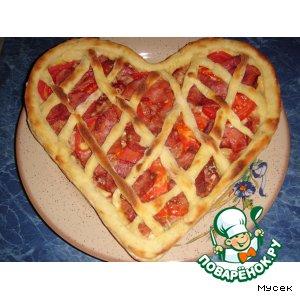 Рецепт Картофельный пирог с ветчиной и помидорами