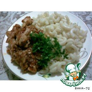 Готовим вкусный рецепт приготовления с фото Курочка в соусе с салями
