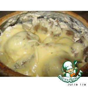 """Рецепт: Картофель с грибами в горшочке """"Сливочный"""""""