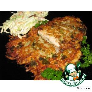 Рецепт Куриные шницели в картофельной корочке