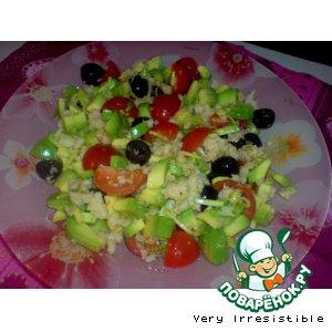 Рецепт Салат с авокадо и мясом криля