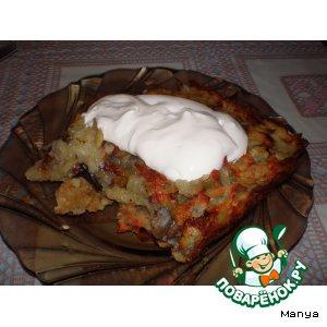 Рецепт Картофельная бабка, фаршированная грибами