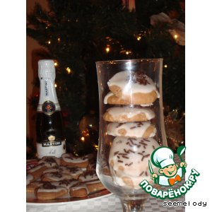 Рецепт Рождественское шоколадно-ромовое печенье