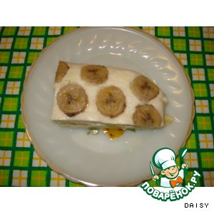Рецепт Творожная запеканка с бананами