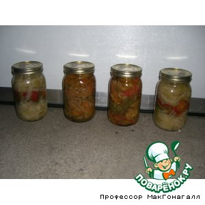 Рецепт Сотэ из баклажан и других овощей