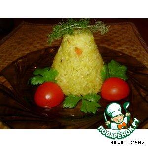 Рецепт Гарнир «Рис с апельсиновым соком»