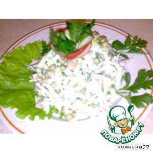 Простой печеночный салатик