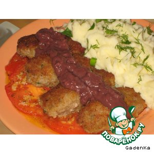 Рецепт Мясные палочки с винным соусом