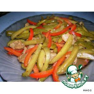 Рецепт Горячий салат из маринованных огурцов