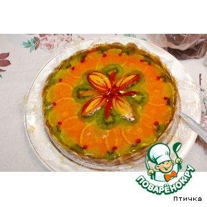Рецепт Тортик с желе и фруктами