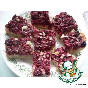 Рецепт Пирог вишневый с овсяными хлопьями